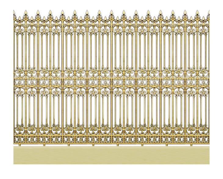 Hàng rào hợp kim nhôm HR007