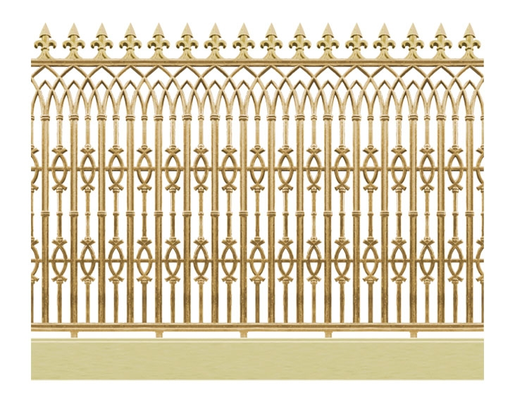Hàng rào hợp kim nhôm HR005