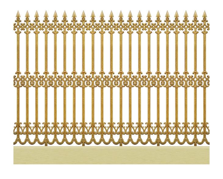 Hàng rào hợp kim nhôm HR001