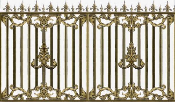 Hàng rào hợp kim nhôm HR009