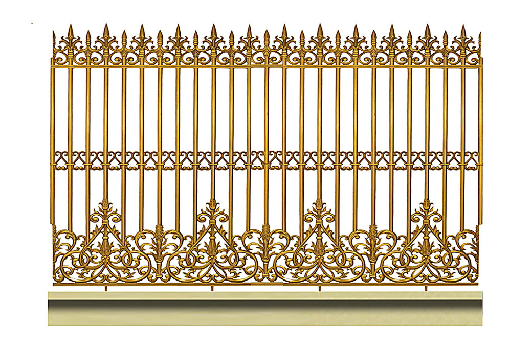 Hàng rào hợp kim nhôm HR018
